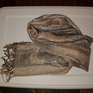 Beautiful Scarf/Wrap with Shiny Threading